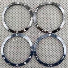 39mm Black/Blue Ceramic Bezel Insert Bezel Kit Accessories For 41mm Men's