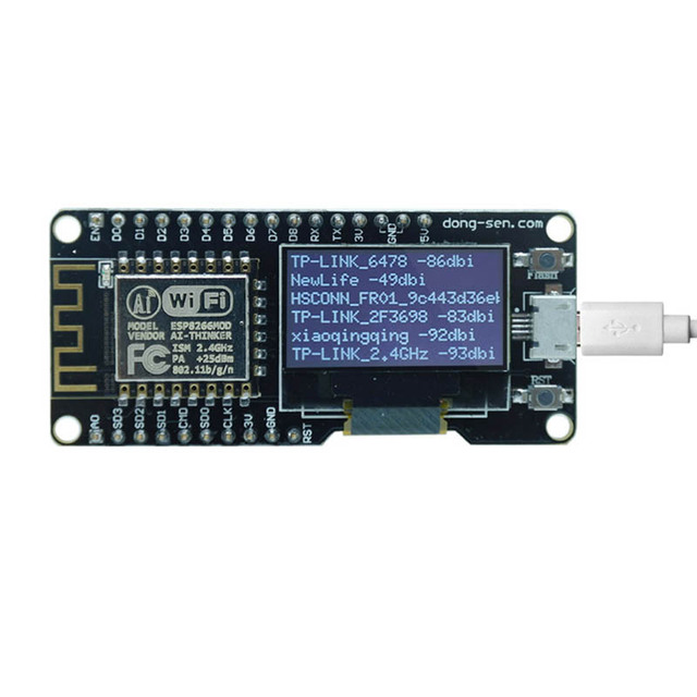 """Elecrow D-duino Combination for Arduino ESP8266 and OLED Integrated 0.96"""" Develop IOT DIY Kit"""