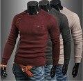 2015 мужские свитера зима весна осень шею плюс размер мужчины поло свитер свитера пуловеры Бесплатная доставка