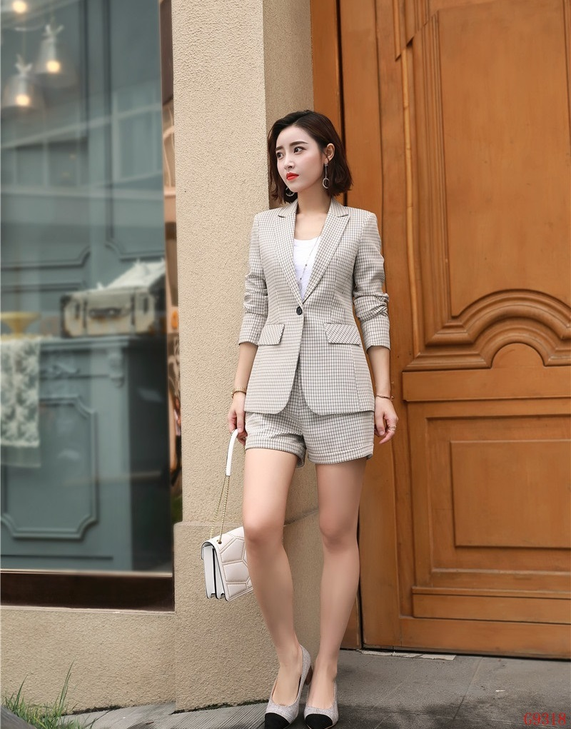 67147e52a03 Color Bureau Dames Mode Wear Shorts D affaires Rose Ensembles Veste  Vêtements Femmes Casual Styles Et Work picture Color Costumes Picture  Uniforme Blazer ...