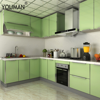 YOUMAN PVC Self-adhesive Wallpaper Vinyl Sticker Kitchen Cupboard Door Furniture Desktop Decorative Film