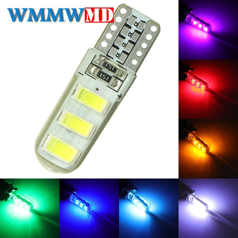 1pcs New Arrival T10 192 W5W 6 SMD 5630 5730 LED Silica gel Waterproof Wedge Light Car Parking light Auto Clearance Lights 12V new arrival c w 5 25g 4m 5m 99