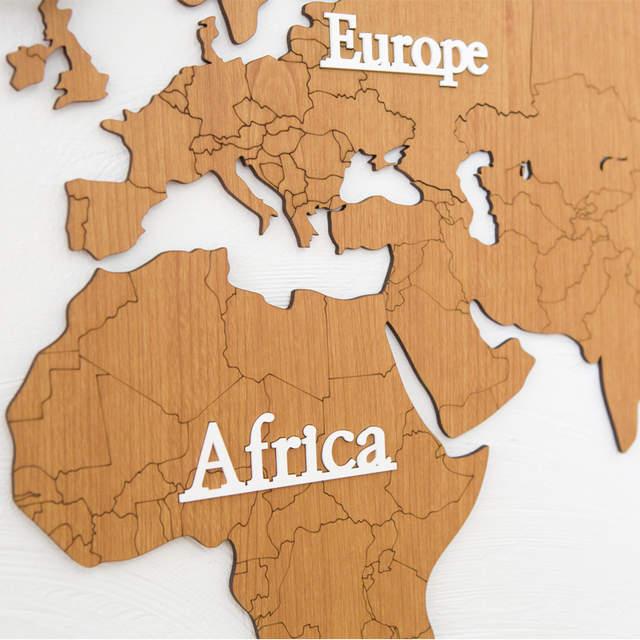 on diy world map wall decor