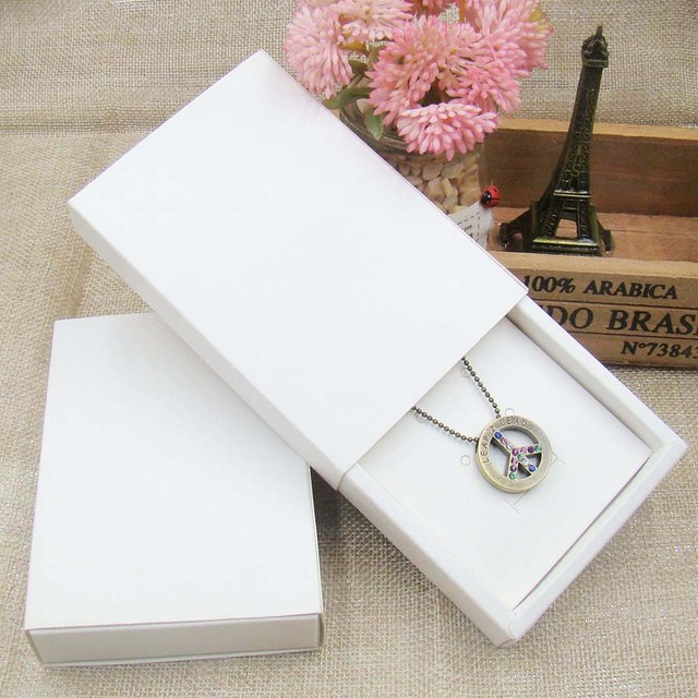 12pcs 4color Jewelry Gift Boxes Cardboard Boxes for Necklaces earring jewelry pendant Packaging display Rectangle11.5*8*2.0cm