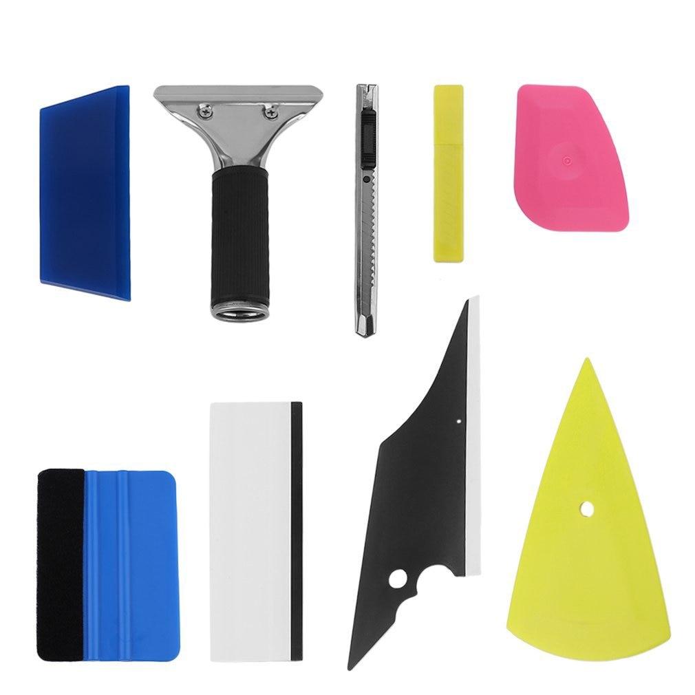 8 in 1 Auto Folie Schaber Werkzeuge Rakel Auto Fenster Tönung Auto Film Installieren Verpackung Applikator Werkzeuge Scratch-weniger für Autos heißer