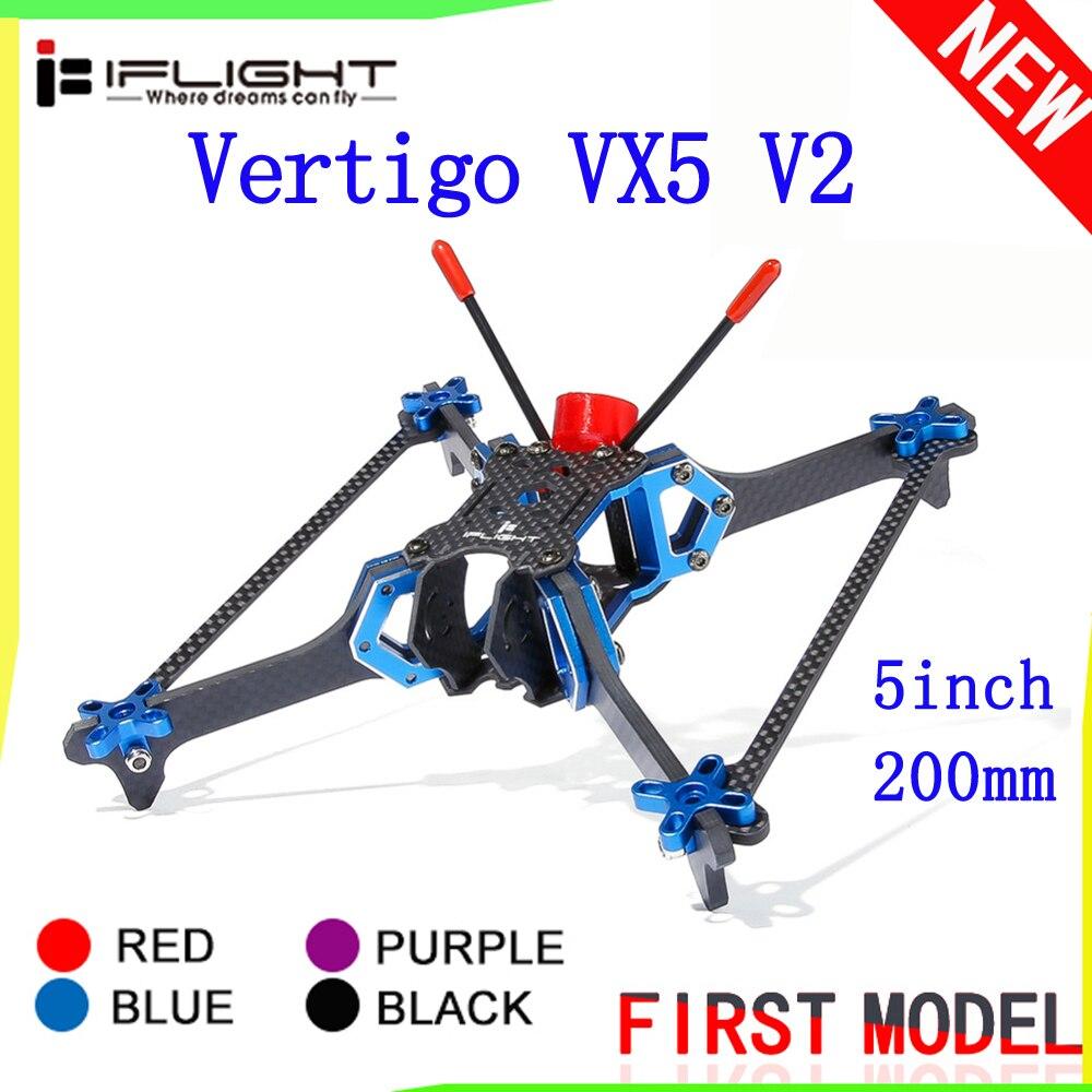 iFlight Vertigo VX5 V2 Drone Frame 5Inch 200mm Vertical FPV Frame 4mm Arm Compatible Xing 2207