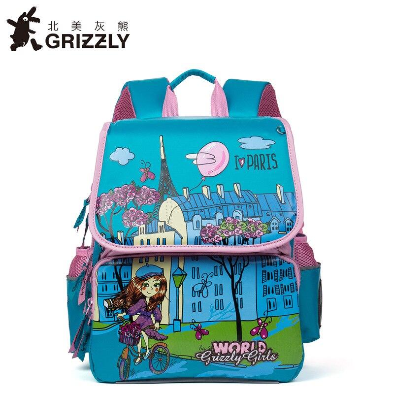 Russia Style Children School Bags for Girl Floral Cartoon Pattern Nylon Orthopedic Backpack School Portfolio Mochila Escolar недорого