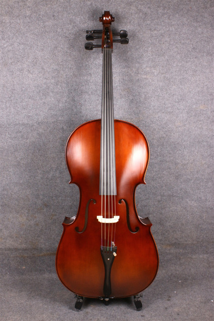 Cello 4/4 New Electric Acoustic Cello Nice Sound Solid wood 5  string #207  you can choose color can with 4 black fine