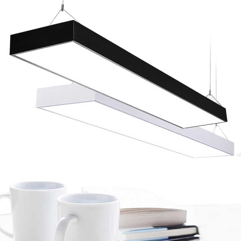 Lámpara de techo creativa moderna LED colgante de acrílico de oficina + Suspensión de metal para lamparas colgantes de comedor