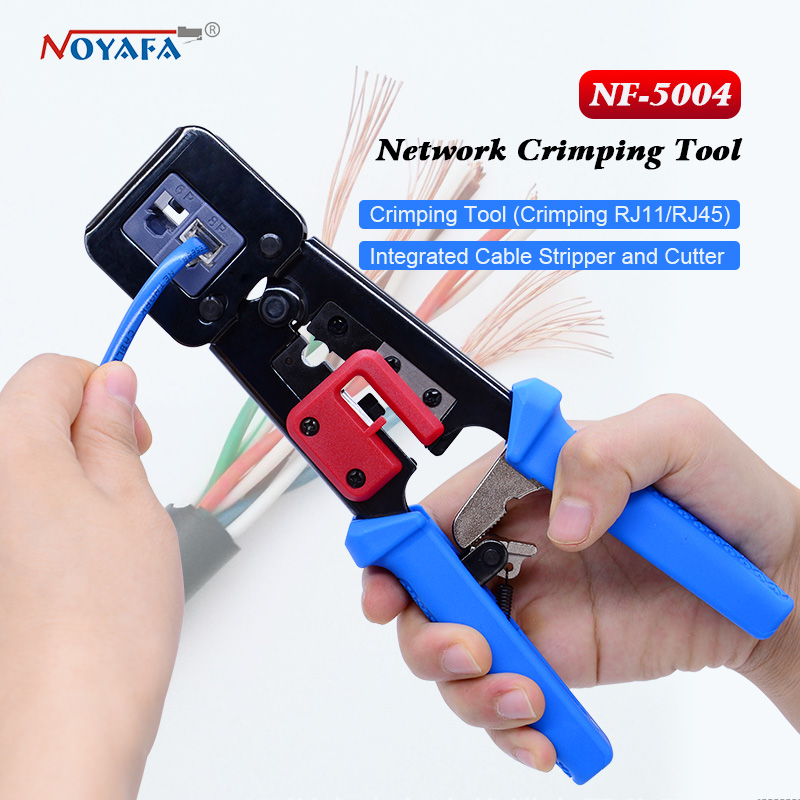 NF-5004 outils de mise en réseau rj45 rj11 pince à sertir double modulaire outil de sertissage coupe-fil Kit de dénudage