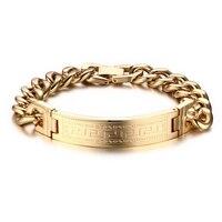 Горячие продажи great wall линии блок золотой цвет/серебряный цвет titanium стальной браслет для мужчин