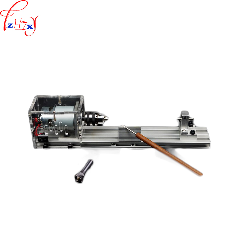 DC24V 1PC Miniature buddhist pearl lathe DIY grinding and cutting woodworking lathe machine beads woodworking tool small micro beads polishing lathe cutting car beads machine mini diy woodworking turning lathe c00108
