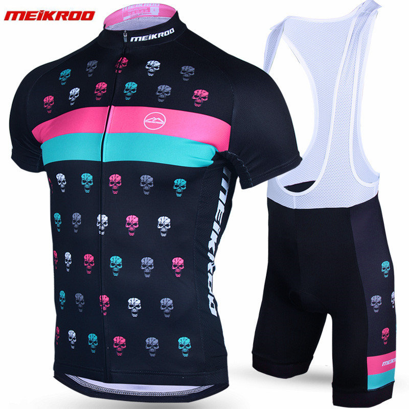 Meikroo New Summer Short Sleeve Cycling Jersey Set Sweat MTB Bike Clothing Bicycle Jerseys For Men Pro Road Clothes