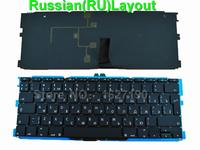 RU Russian Laptop Keyboard For Apple Macbook Air A1370 A1465 11 6 BLACK With Backlit Board