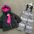 Children 's ski suits girls outdoor cotton suits baby cotton + trousers trousers