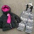 Trajes de esquí para niños niñas trajes de algodón para bebés de algodón + pantalones pantalones al aire libre