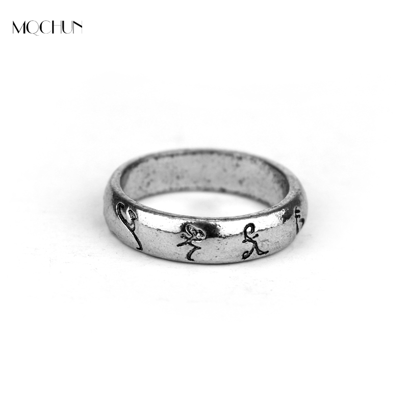MQCHUN Movie Hot Jewelry Ring The Mortal Instruments City Of Angelic Bones Power Rune Shadowhunters Gaes For Fans Gift