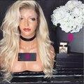 Блондинка Парик Шнурка Девы Светлые Волосы Парика Бразильский Full Lace блондинка Человеческих Волос Парики #613 Блондинка Человеческих Волос Full Lace парик