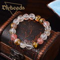 High Quality Natural Stone Bracelets Watermelon Color Crystal Bracelets 10MM Beads Strand Bracelets Diybeads