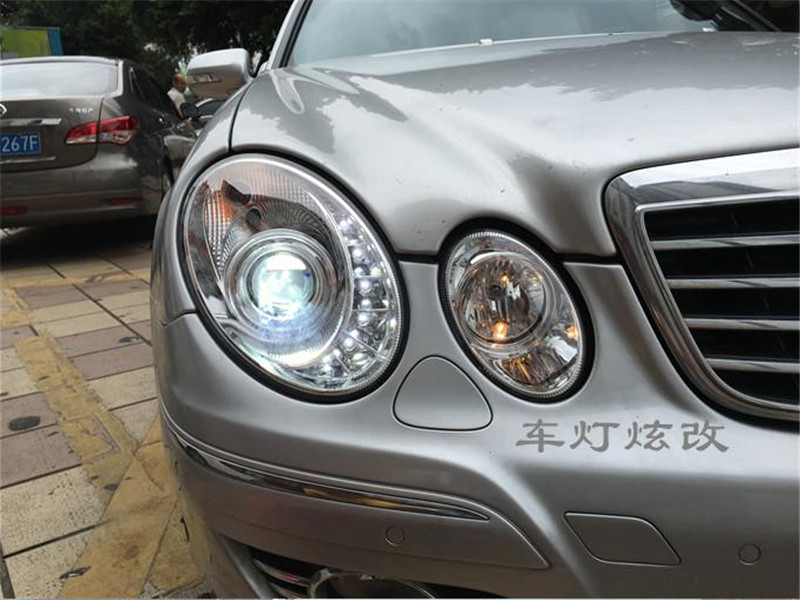 Free shipping for car Head lamp for Mercedes-Benz W211 headlight E200 E240 E280 LED head light 2006-2009 H7 Xenon lamp auto fuel filter 163 477 0201 163 477 0701 for mercedes benz