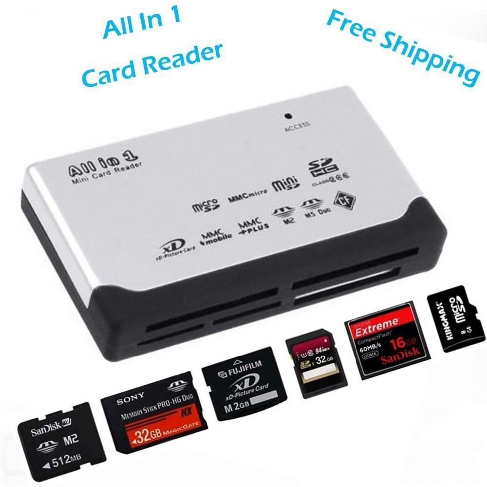 usb 2 0 all in 1 multi card reader sd xd mmc ms cf sdhc high