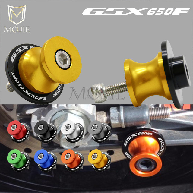 For SUZUKI GSX650F GSX 650F GSX 650 F GSX650 F Katana 2008 Motorcycle 8mm Swingarm Spools Slider Swingarm Stand Screws Slider