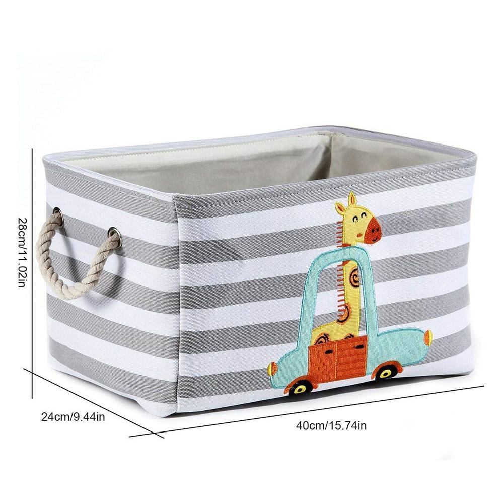 Cesto Dobrável de Lavanderia para Roupas Sujas – Serve como cesto de Brinquedos – Organizador - Leão e Girafa 3