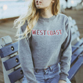 Autumn Women's Letters Printed Pullovers Sweatshirt Jackets Short Dew Navel Attire Loose Long-sleeved O Neck Sweatshirt P20T