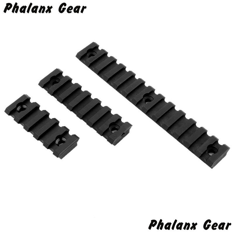 "Image 3 - 3 Sizes Set 5 7 13 Slot 2 ""3"" 5 ""Picatinny Weaver Rail Mount ABS Plastic Keymod Rail Handguard Section for Hunting-in Scope Mounts & Accessories from Sports & Entertainment"
