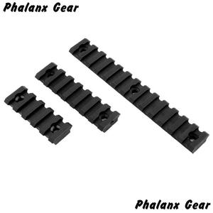 "Image 3 - 3 Sizes Set 5 7 13 Slot 2 ""3"" 5 ""Picatinny Weaver Rail Mount ABS Plastic Keymod Rail Handguard Section for Hunting"