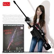 100% новый масштабируется Barrett M82A1 12,7 мм снайперская винтовка 3D Бумага модель Косплей оружие Kid взрослых «Gun Книги об оружии Бумажные модели пистолет игрушки