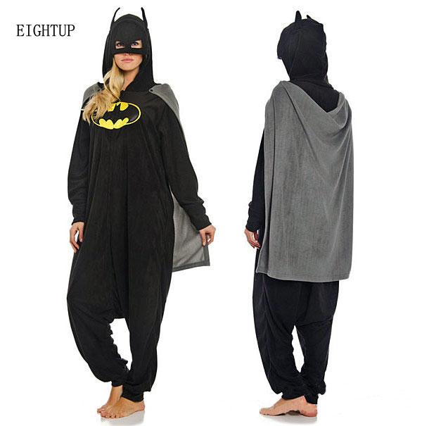 6afe6c294e0323 US $24.49 29% OFF|Kigurumi Adult Cartoon New Batman Onesie Pajamas Anime  Cosplay Costumes Unisex Winter Animal Sleepwear Party Pyjamas-in Anime ...