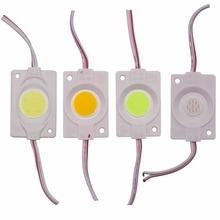 Новинка 1 шт 2,4 W ультра яркий COB Светодиодный модуль светильник из чистого/теплая белая полоса светильник бисерный чип diy AC/DC 12V светильник ing Водонепроницаемый