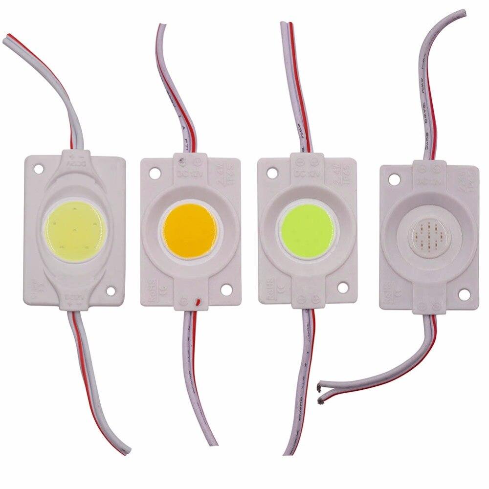 2017 nuovo 1 Pz 2.4 W COB Ultra Luminoso HA CONDOTTO il Modulo luce Pura/Warm bianco Luce di Striscia Della Lampada Bead Chip diy DC 12 V illuminazione Impermeabile