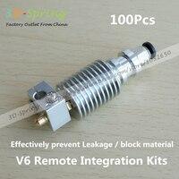100Pcs V6 Integrated Nozzle Kit Impresora 3d Printer Parts Extruder Kossel Stainless Steel Diy Cnc Hotend