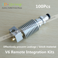 100 Шт. V6 Integrated сопла Комплект impresora 3d принтер части Экструдера коссель нержавеющая сталь diy чпу блока prusa hotend M7 горло