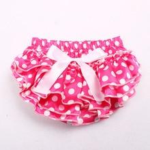 Newborn Baby Flower Shorts Layers Ruffled Panties