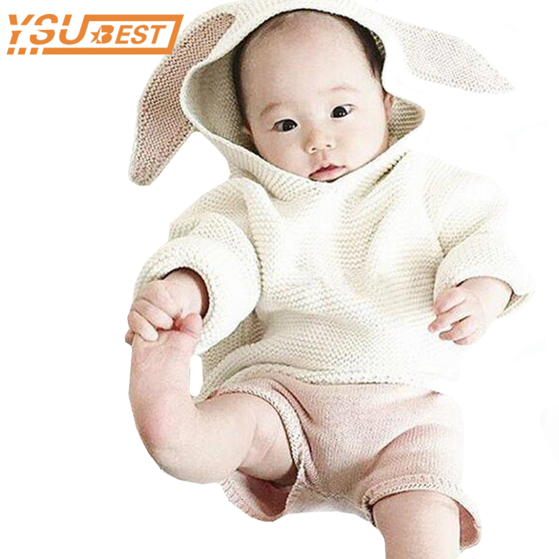 1-5Y Girls Boys Jumper Knitted Sweaters Cardigan 2018 Autumn New Baby Boys Sweaters 3D Rabbit Cotton Pullover Kids Girls Sweater