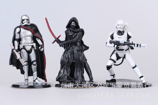 6pcs/set Star Wars The Force Awakens bb-8 Darth Vader Finn Kylo Ren Collectible Action Figures PVC Collection toys for Kids gift