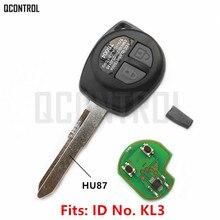 Chave automotiva remota qcontrol, funciona com chip suzuki swift sx4 alto vitara ignis jiny splash 433mhz id46