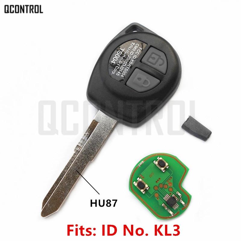 QCONTROL Car Remote Key Fit for SUZUKI SWIFT SX4 ALTO VITARA IGNIS JIMNY Splash 433MHz ID46 Chip-in Car Key from Automobiles & Motorcycles