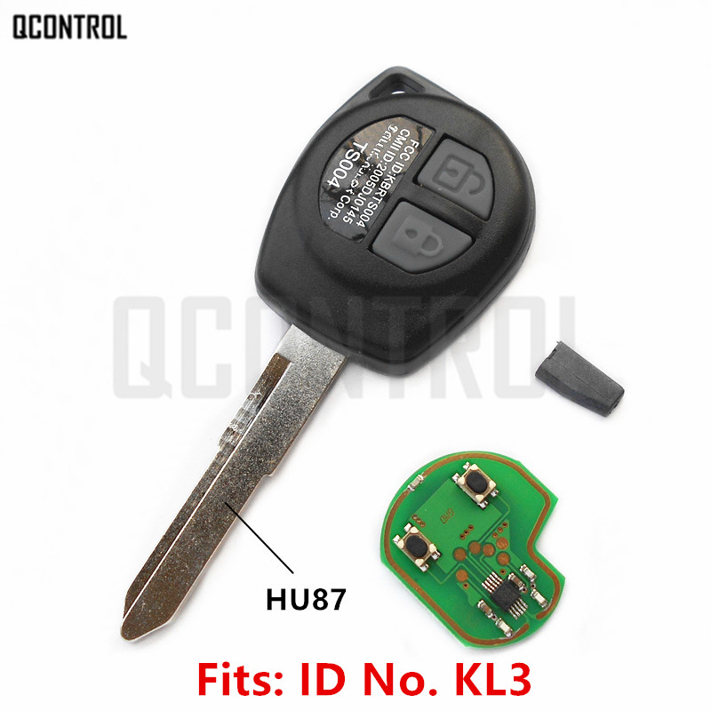 QCONTROL Voiture À Distance Key Fit pour SUZUKI SWIFT SX4 ALTO VITARA IGNIS JIMNY Splash 433 MHz ID46 Puce