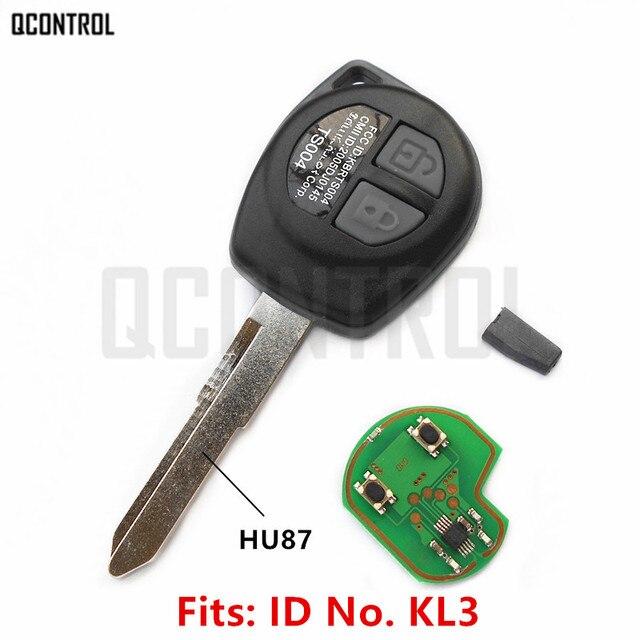 QCONTROL clé télécommande pour voiture, compatible avec SUZUKI SWIFT, SX4, ALTO VITARA IGNIS JIMNY Splash, 433MHz, puce ID46