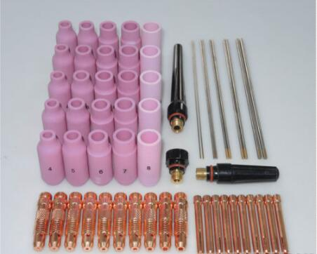 FREE SHIPPING 58 pcs TIG Welding Torch consumables Kit WP-17 WP-18 WP-26 WL15 Lanthanated Tungsten  цены