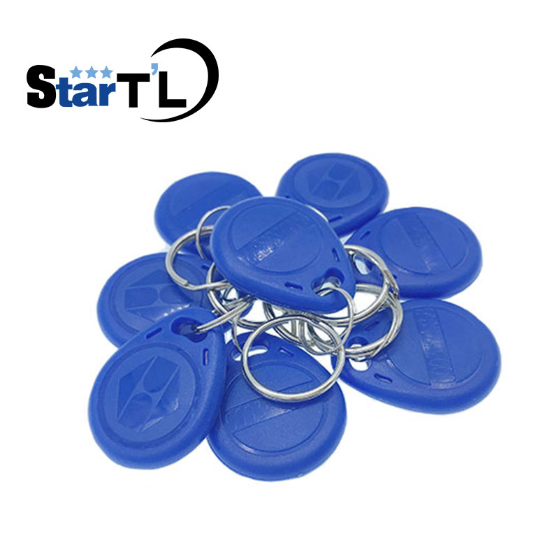 100 pcs/lot 125kHz RFID Proximity ID Token Tag Key Keyfobs rfid key fob Unwritable for door entry system Blue Color 100pcs lot rfid id tag door entry access control em key chain token 125khz proximity keyfobs free shipping