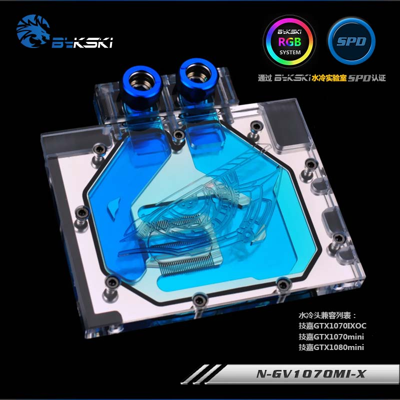 Bykski GPU Water Block for Gigabyte GTX1070 Mini ITX OC 8G GTX1070 IXOC Full Cover Graphics Card water coolerBykski GPU Water Block for Gigabyte GTX1070 Mini ITX OC 8G GTX1070 IXOC Full Cover Graphics Card water cooler
