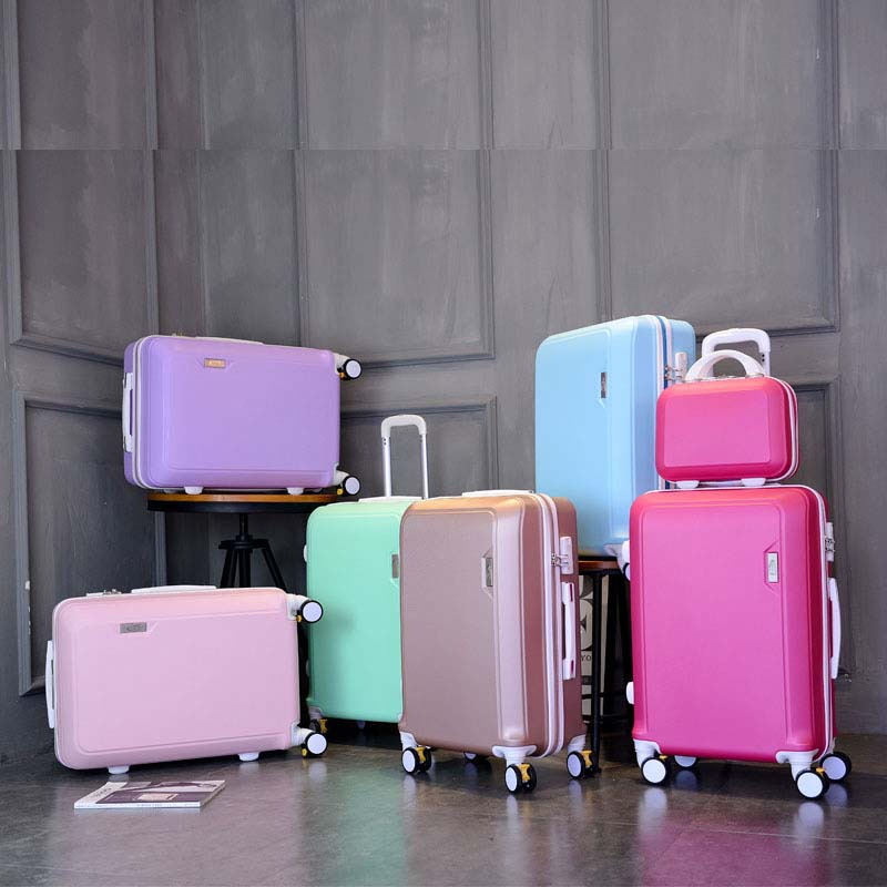 High Quality Cute Pink Princess Series 20/24/26 Inch PC Handbag And Rolling Luggage Spinner Brand Travel Suitcase