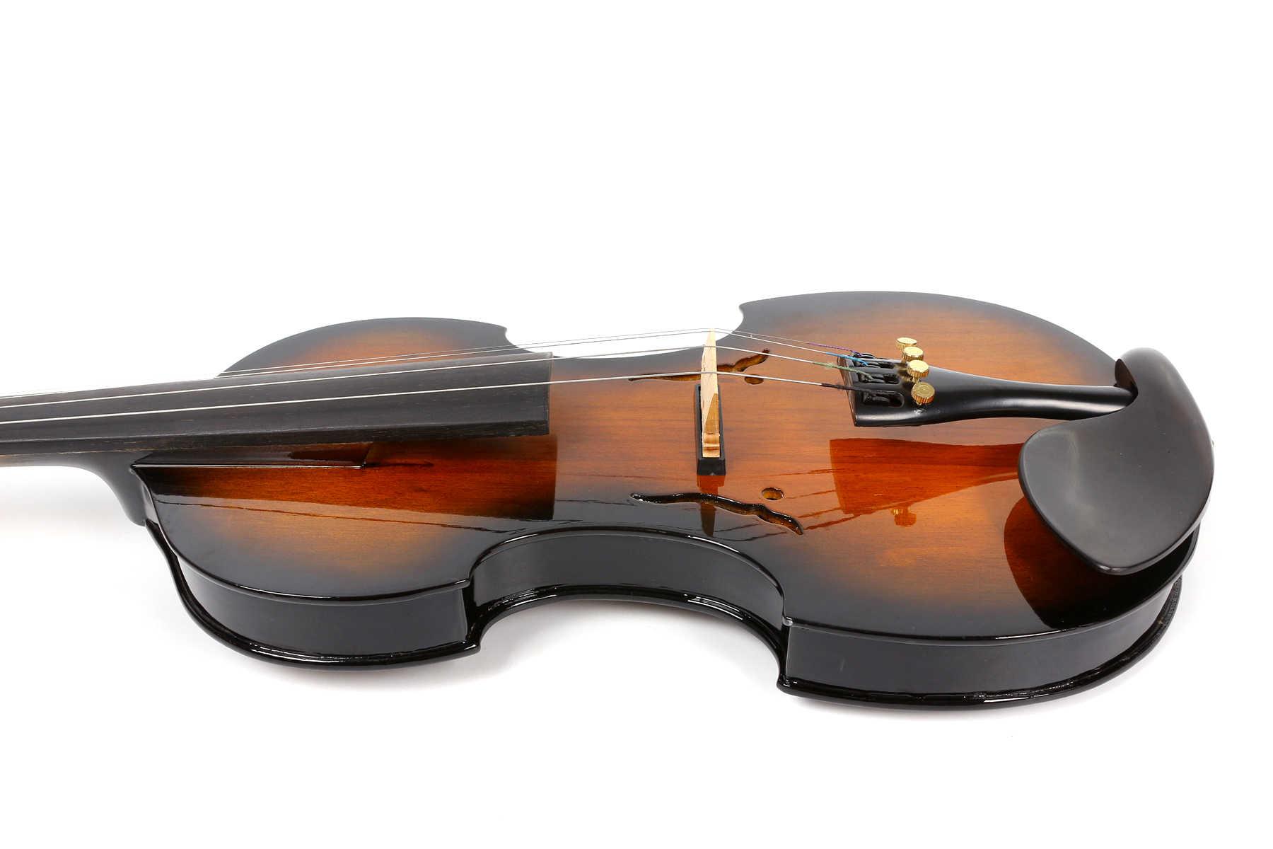 Yinfente электрическая Тихая скрипка 4/4 ручная работа сладкий звук свободный чехол + бант + кабель # EV12