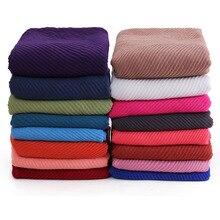 10 шт./лот Для женщин плиссированные морщинка Hijab шарф мусульманский головной Обёрточная бумага шаль большого размера 180*90 см