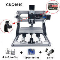 CNC 1610 with ER11 diy cnc engraving machine mini Pcb Milling Machine Wood Carving machine cnc router cnc1610 best Advanced toys|Wood Routers|Tools -